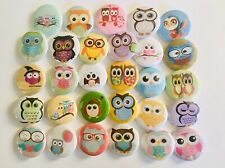 """Baby Owl button pins. Lot of 25. 1"""" inch buttons. A+!!"""