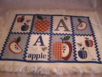 Set Of 4 Apple Placemats