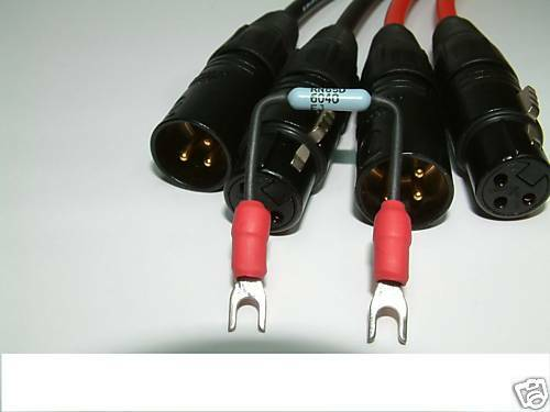 2 x 1/' Adaptor cables Lug to XLR for UREI LA2A LA3A 1176 etc. PULTEC