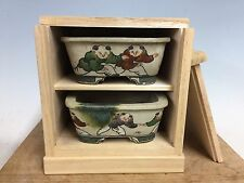 Rare 2 Pcs Set Of Daisuke Sano Shohin Size Bonsai Tree Pot With Custom Box 4 3/8