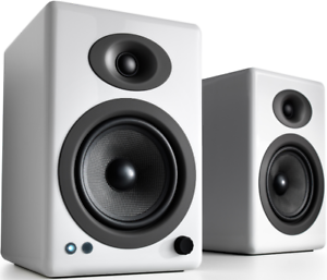 Audioengine-A5-Wireless-Active-Speakers-WHITE-Powered-Bookshelf-Bluetooth-HD-PC