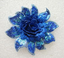 EMBROIDERED 3D PEONY FLOWER APPLIQUE 3611-N