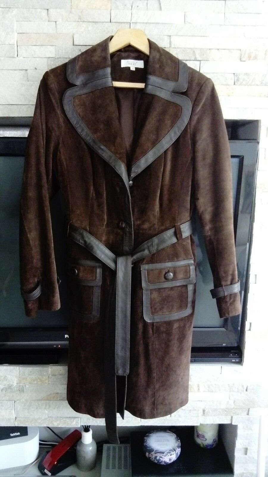 Next womens real leather coat size 16
