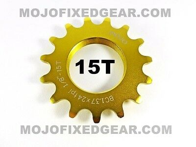 BLACK  ANODIZED Cro-Mo TRACK 13 TOOTH 1//8 INCH CNC MOJO 13T FIXED GEAR COG