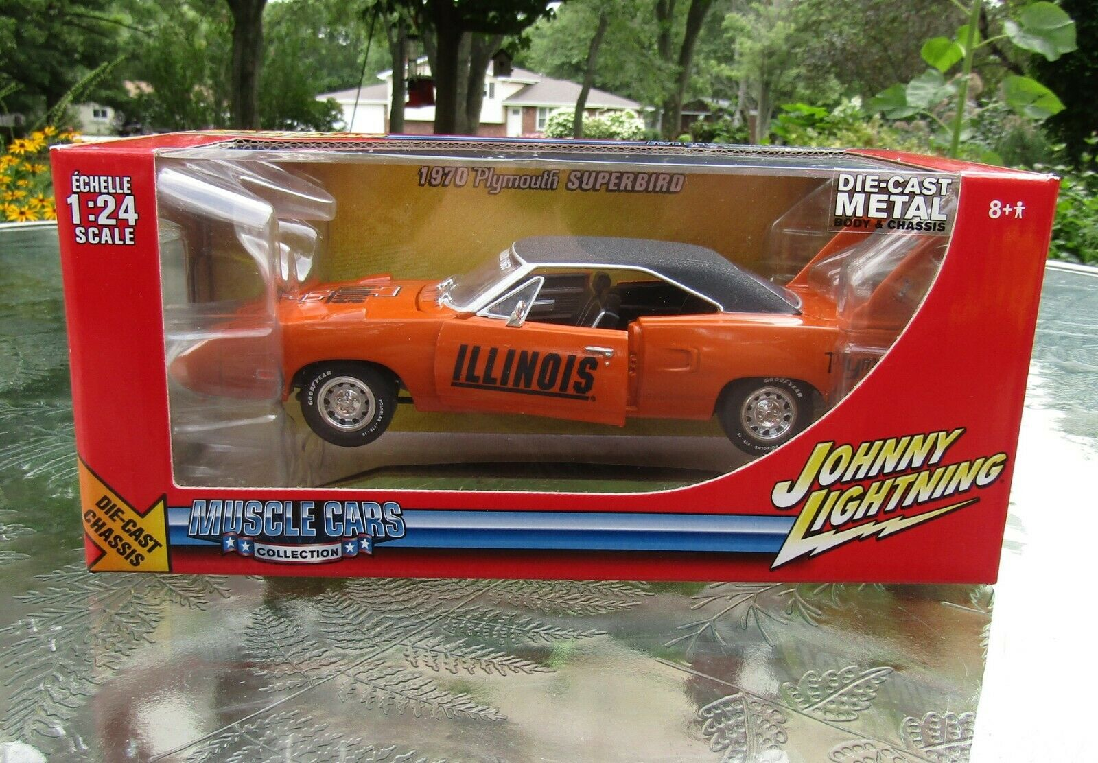 2005 Johnny Lightning orange 1970 Plymouth Superbird University Of Illinois rare