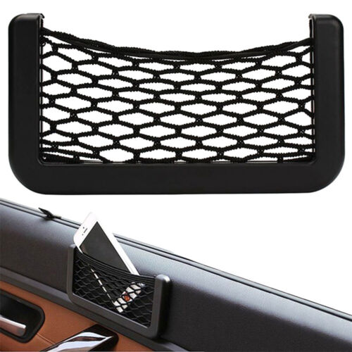 Practical String Car Net Phone Pockets Car Back Rear Trunk Elastic Mesh Pocket Z