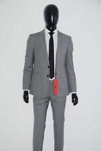 2019 Mode Hugo Boss Anzug, Mod. C-ryan/c-win, Gr. 48, Extra Slim Fit, Open Grey Dinge FüR Die Menschen Bequem Machen