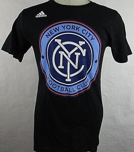 b4aa3ff5580 New York City FC NYCFC Big Logo Adidas Men s Small and Medium Black ...