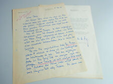 Adolf Fry (1892-1974): 2 Schreiben 1962-64 an Boris v. Klebeck / Bühne, Krupp