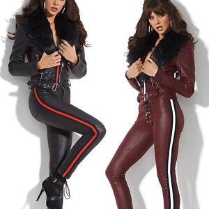 smalle damesjas S broek jas hipsters delige Xs M Alina 2 Door bontjas korte IYDHE9W2