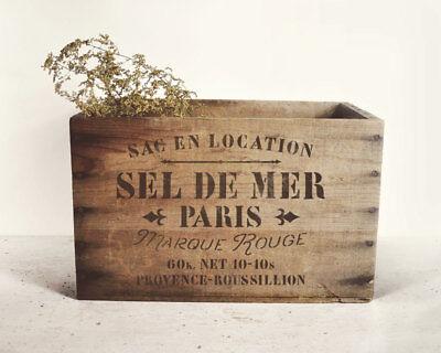 Schablone für  Möbel und Stoff Deko SEL de MER Paris französische Salz Sack
