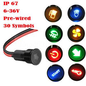 14mm-LED-Anzeigelampe-Signallampe-Signalleuchte-Kontrollleuchte-6V-12V-24V-36V