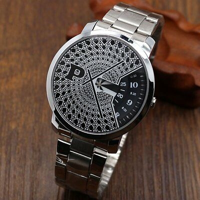 PAIDU Casual New Turntable Analog Quartz Wrist Watch Stainless Steel Strap Gifts