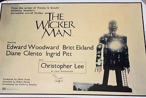 CHRISTOPHER-LEE-Genuine-Signed-THE-WICKER-MAN-movie-poster-AFTAL-REG-039-D-DEALER