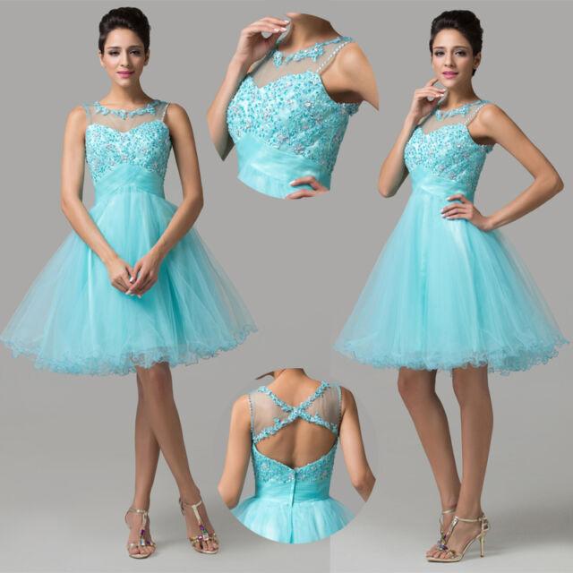 Bling Bling Sequins Sleeveless Quinceanera Short Prom Tulle Formal Evening Dress