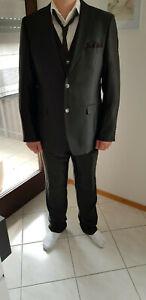 pretty nice 6cb26 ded73 Details zu Herren Anzug Kimo Wilvorst schwarz 54 4-teilig