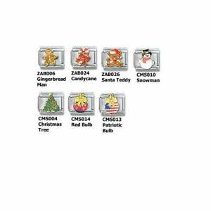 Stainless-Steel-9MM-Italian-Charms-Casa-D-039-Oro-Christmas-Charms-U-PIK