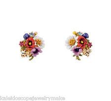 Les Nereides Flowers Stud earring with bag Australian shop