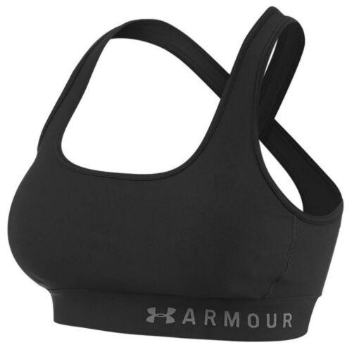 Under Armour Womens Mid Crossback Sports Bra Gym Training Crop Top 1307200 001