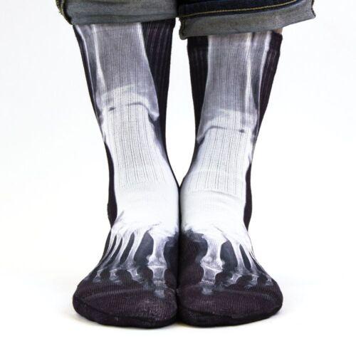 Samson ® Imprimé 3D Chaussettes Sublimation XRAY Os Squelette radiographie Art Fashion
