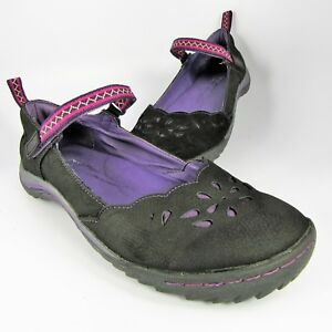 Jambu-BROOKS-Mary-Jane-Flats-Womens-Size-8-5M-Black-Leather-Slip-Ons-Moccasins