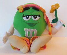 "GREEN M&M HIPPY 11"" PLUSH DOLL, m&m's Hippie"