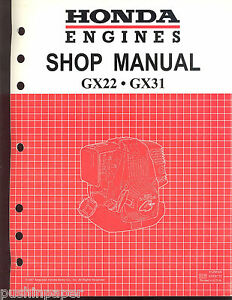 honda engines factory service shop manual 1997 gx22 gx31 with rh ebay com Service Station Parts Manual