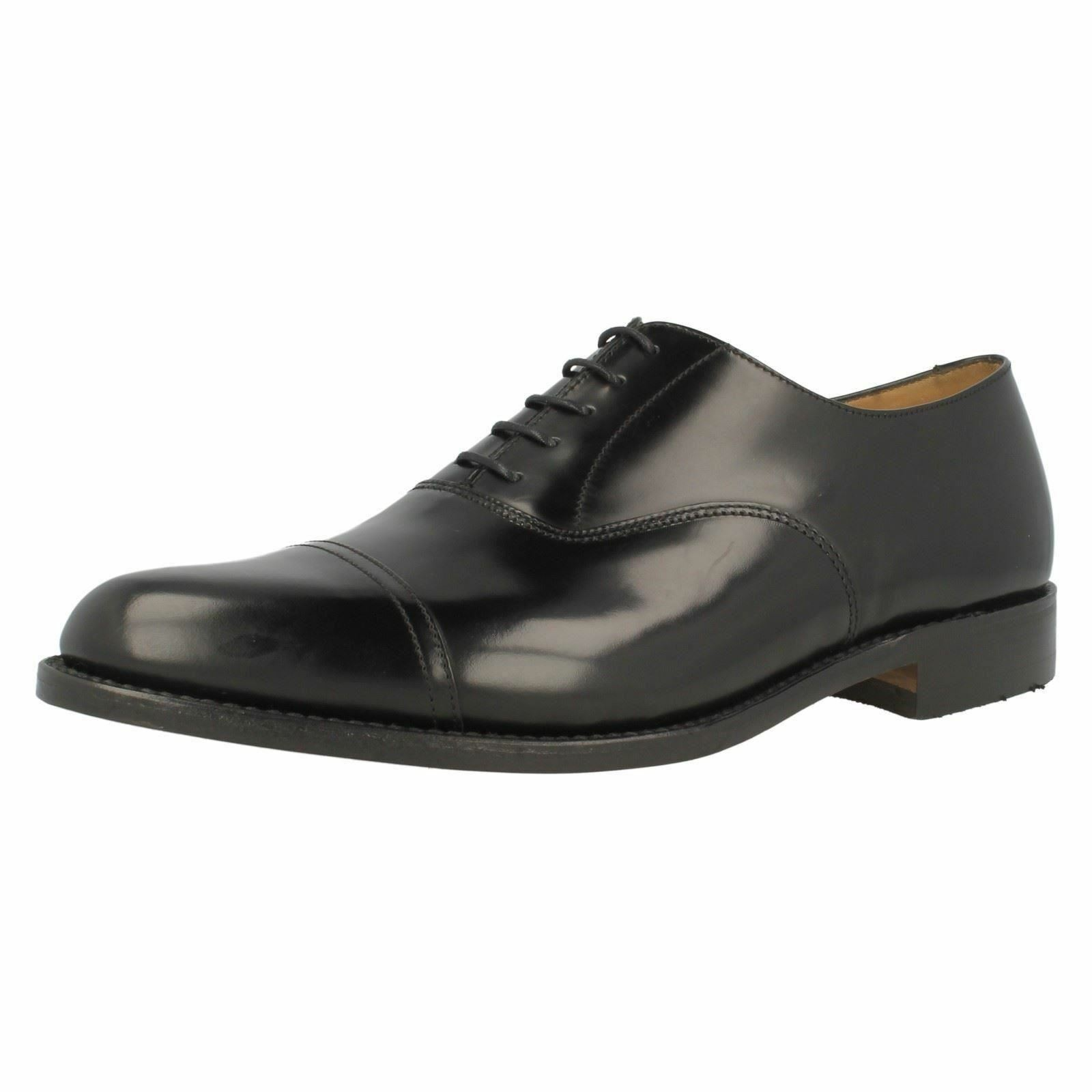 Herren LOAKE ELLAND BLACK LEATHER LACE UP SMART Schuhe d04d06