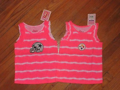 e86295ace15c7 NFL TEAMS Baby & Toddler GIRLS Hot Pink tie dyed Tank Tops NEW ...