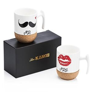 Love-KANKEI-Mr-and-Mrs-Ceramic-Mugs-with-Novelty-Cork-Bottom-Wedding-Gifts-Ann