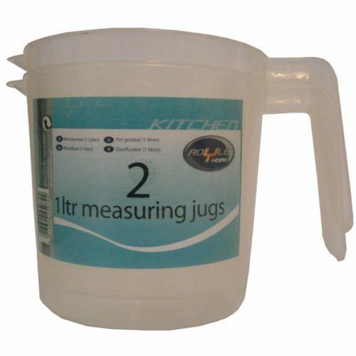 Royle 2 x 1 Litre Plastic Measuring Jugs