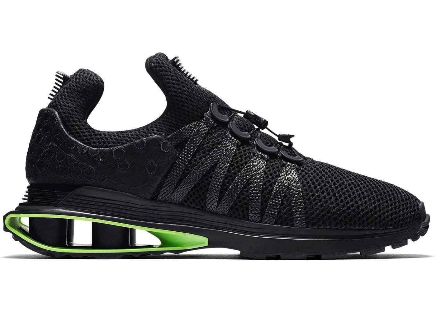 4d47853fab1a3 ... Nike Shox Gravity Luxe Luxe Luxe Black Green Strike AR1470-003 Men s SZ  8 e3e9a1 ...
