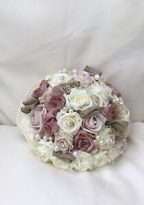 Image Is Loading Wedding Flowers Bouquet Blush Dusky Pink Roses Bride
