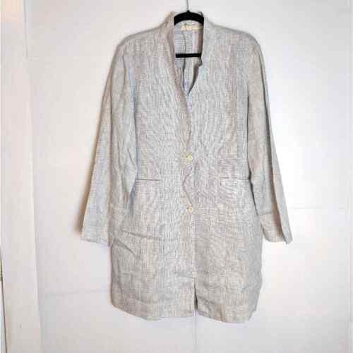Eileen Fisher Organic Linen Jacket Lagenlook Size