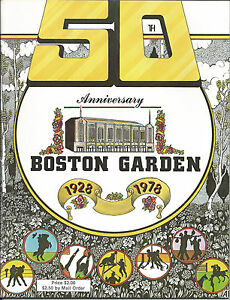 Boston Garden 50th Anniversary 1928 1978 60 pages of Events amp