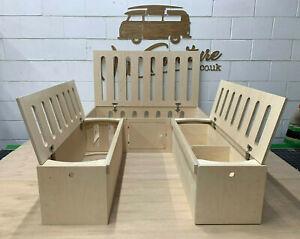 VW Caddy Camper Van Sliding Ply Pod Bed, Seat, Table & Drawers - VAN FURNITURE