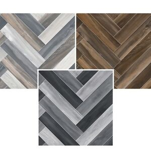 Image Is Loading SAMPLE Herringbone Cushion Floor VINYL FLOORING Waterproof Kitchen