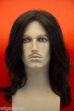 Medium Straight Brunette Costume Wigs Men Wig
