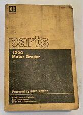 Cat Caterpillar 120g Motor Grader Parts Book Manual Sn 87v5275 Up