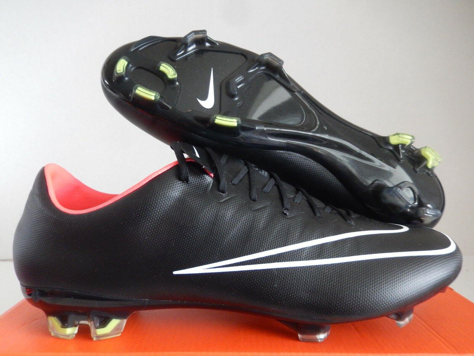 Concesión tipo Aproximación  Nike Mercurial Vapor X FG White Black Volt Total Orange 648553-107 Size  10.5 for sale online | eBay