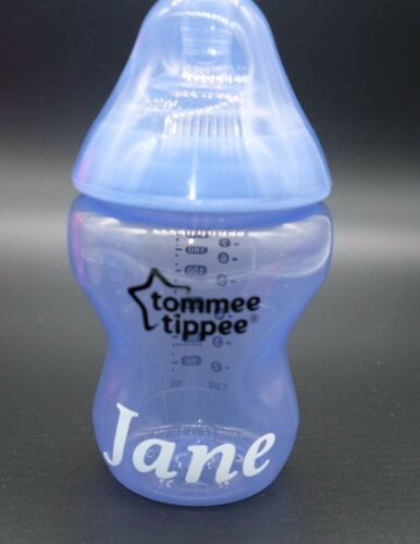 9oz Personalised Tommee Tippee Baby Bottle Boy//Girl Ideal Gift stage 1 260ml