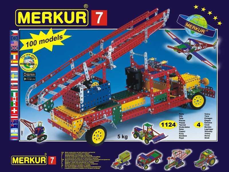 Metal construction set Merkur M7, 5,1 kg, NEW, made in CZECH REPUBLIC