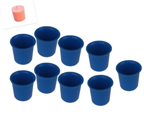 Rigid Plastic S7619 9 x Seamless Votive Candle Making Moulds UK Made Craft