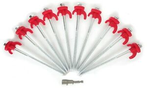 Tent-Pegs-Screw-In-Hard-Standing-Ground-Drill-in-Caravan-Camping-Tent-Awning-Peg