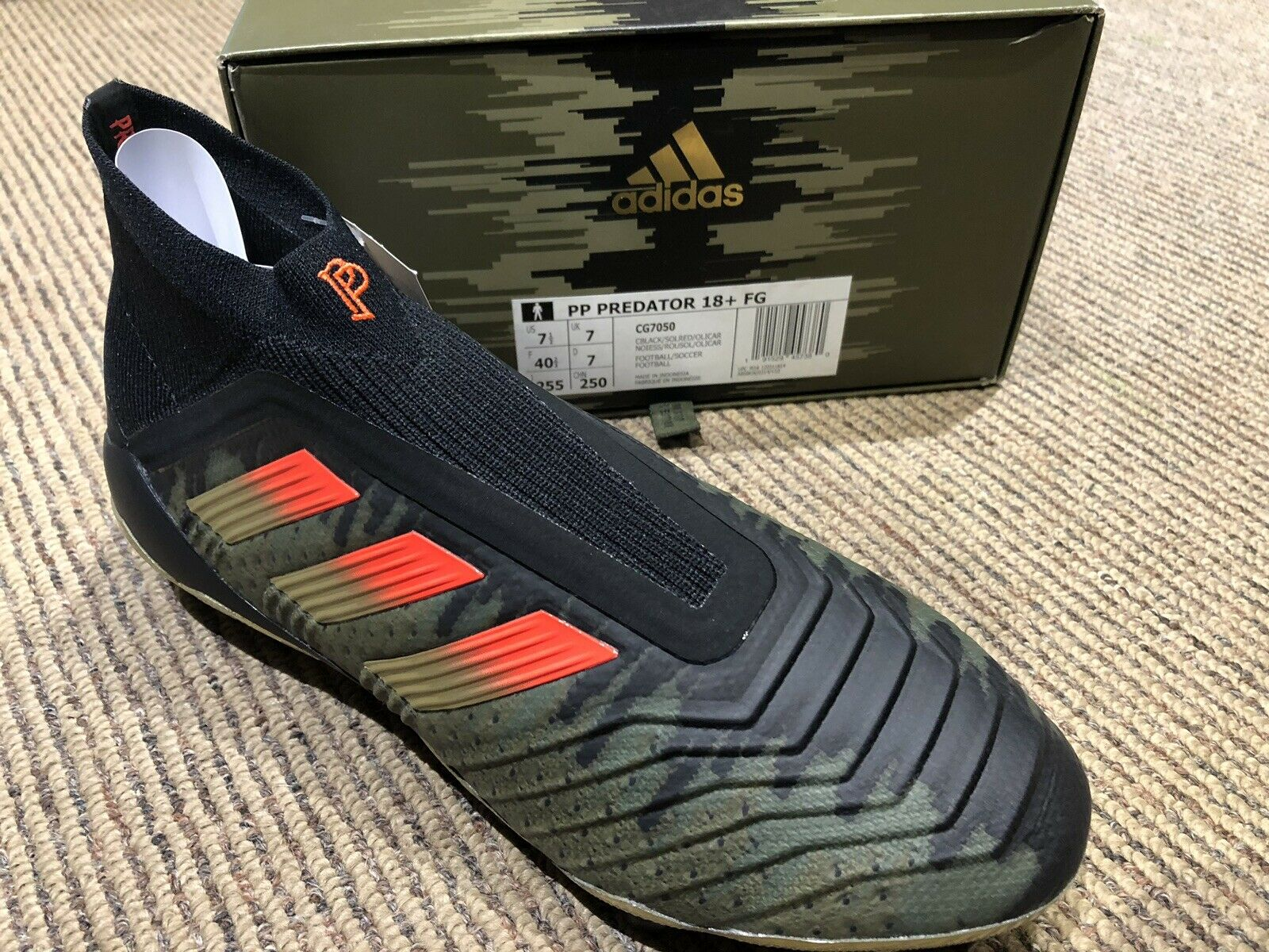 Adidas Prossoator 18 FG Paul Pogba Firm Ground Cleats CG7050 Limited Dimensione 7.5 US