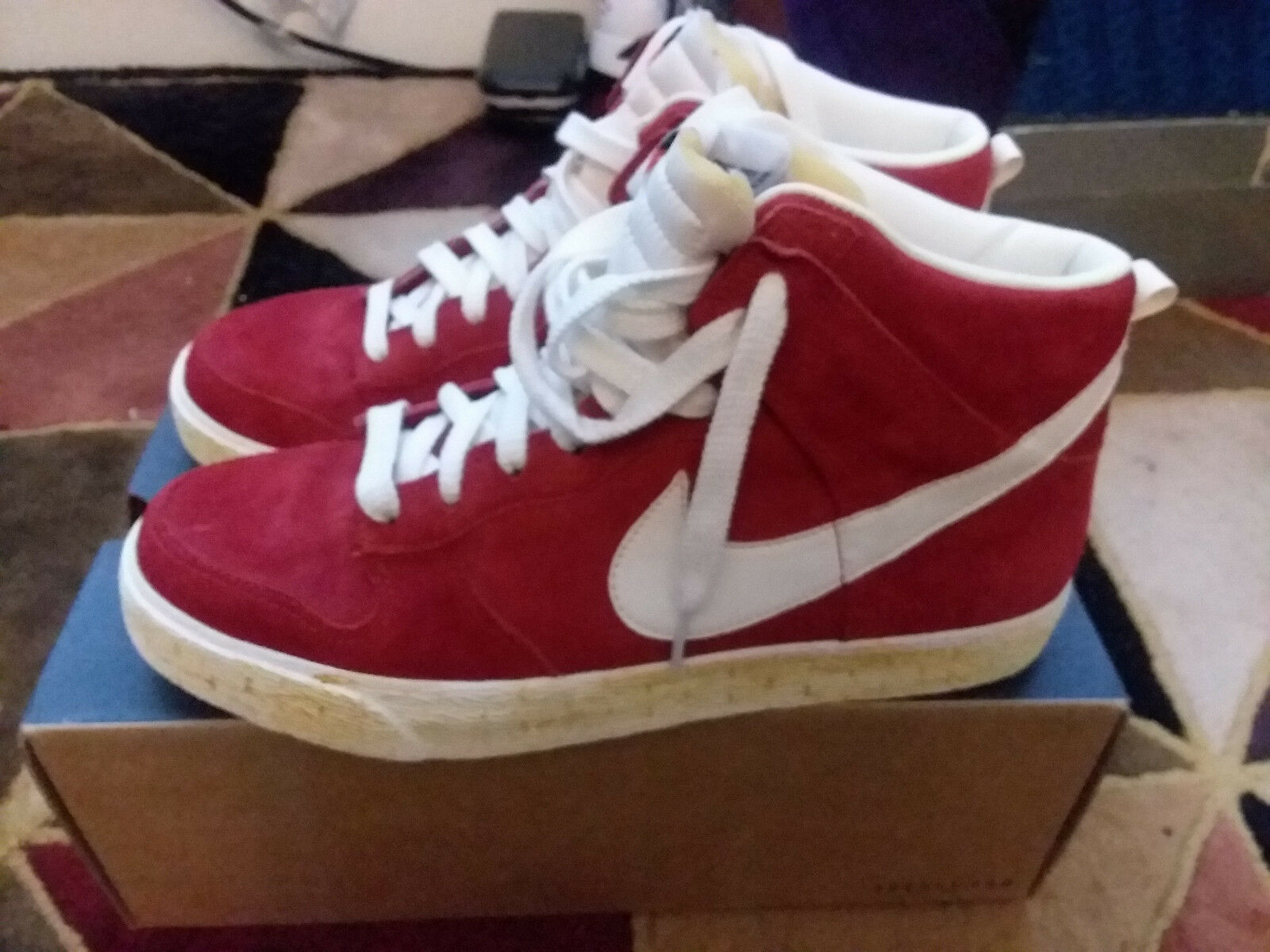 47c55f742fc2e ... Nike Dunk High AC Varsity Red Suede Sail QS size size size 9.5  398263-601 ...
