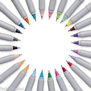24 PACK Sharpie Ultra Fine Point Permanent Markers Set Assorted Colors Art Pen