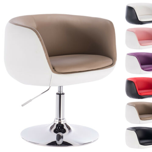 Barsessel Drehsessel Loungesessel Sessel mit Armlehne Kunstleder Chrom #951-24