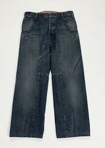 Armani-jeans-uomo-usato-comfort-relaxed-gamba-dritta-W32-tg-46-boyfriend-T5131