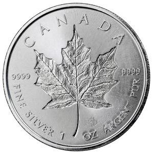 2018 $5 Canada SANTA CLAUS MAPLE LEAF 1 Oz Silver Coin.